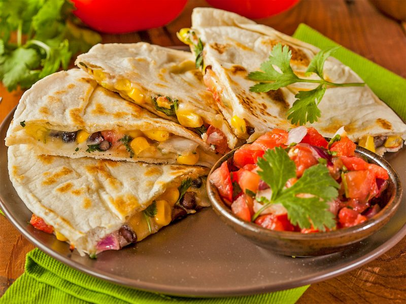Pedro's Black Bean Chicken Quesadilla
